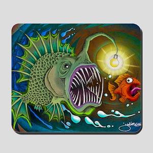 Angler Fish Mousepad