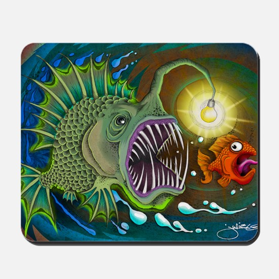 Angler Fish Mousepad