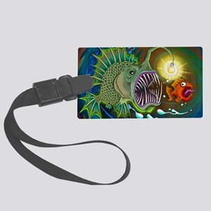 Angler Fish Large Luggage Tag