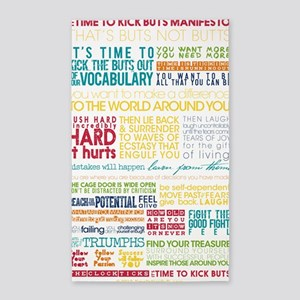 Manifesto Its Time To Kick BuTs 3'x5' Area Rug