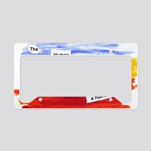 Human Race Is A Rainbow License Plate Holder