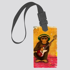 Funky Monkey Bass Player Large Luggage Tag