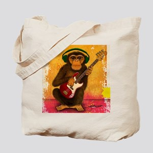 Funky Monkey Bass Player Tote Bag