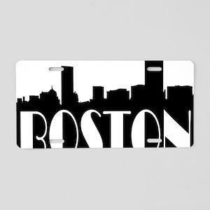 Boston Skyline Aluminum License Plate
