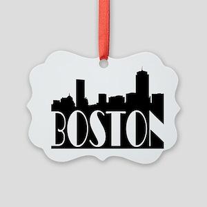 Boston Skyline Picture Ornament