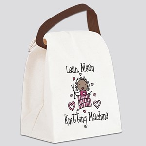 Knitting Machine Canvas Lunch Bag
