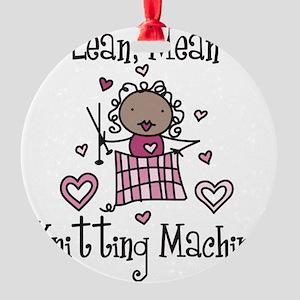 Knitting Machine Round Ornament