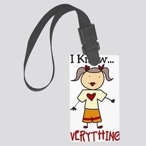 I Know Everything Large Luggage Tag