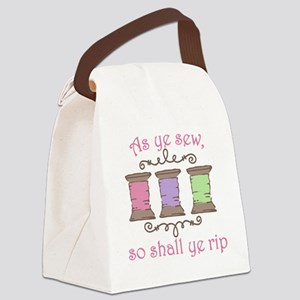 As Ye Sew Canvas Lunch Bag