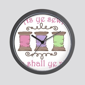As Ye Sew Wall Clock