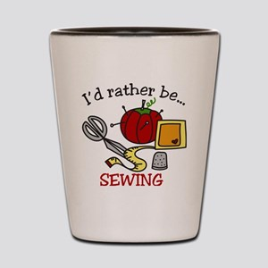 Rather Be Sewing Shot Glass
