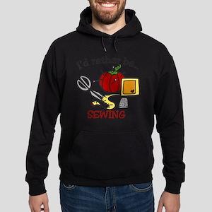 Rather Be Sewing Hoodie (dark)