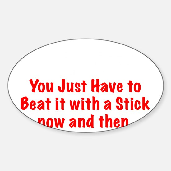Crazy Sticker (Oval)