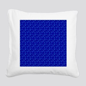 plain deep blue  Square Canvas Pillow