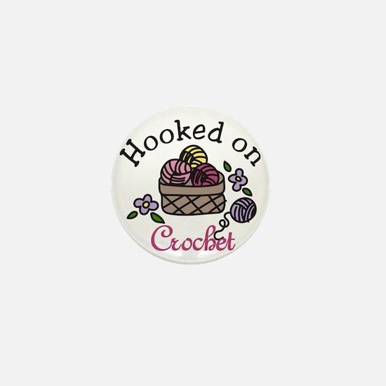 Hooked On Crochet Mini Button