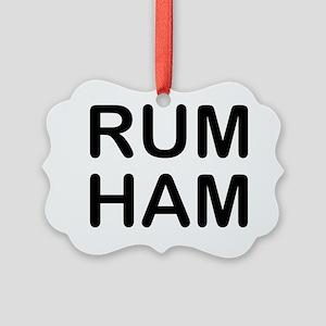 Rum Ham Picture Ornament