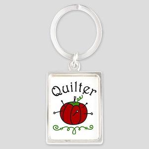 Quilter Portrait Keychain