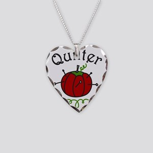 Quilter Necklace Heart Charm