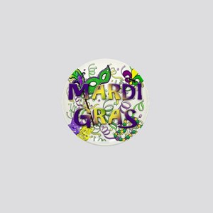 MARDI GRAS Mini Button
