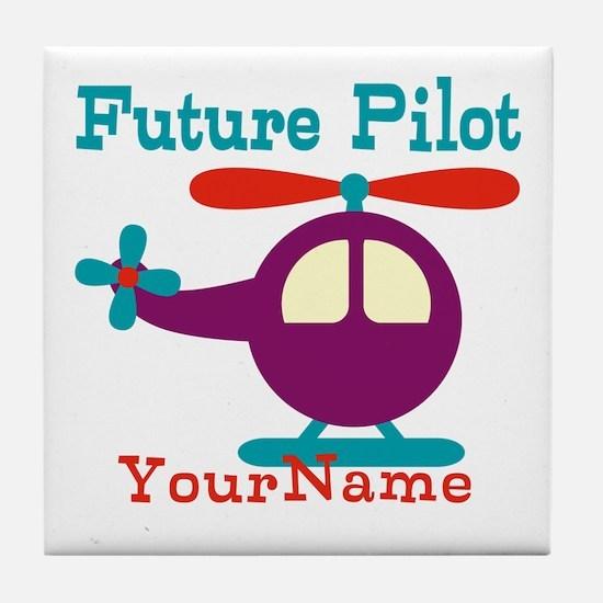 Future Pilot - Personalized Tile Coaster