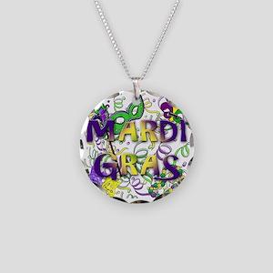 MARDI GRAS Necklace Circle Charm