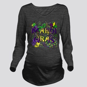 MARDI GRAS Long Sleeve Maternity T-Shirt
