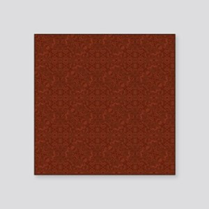 "plain rust  Square Sticker 3"" x 3"""