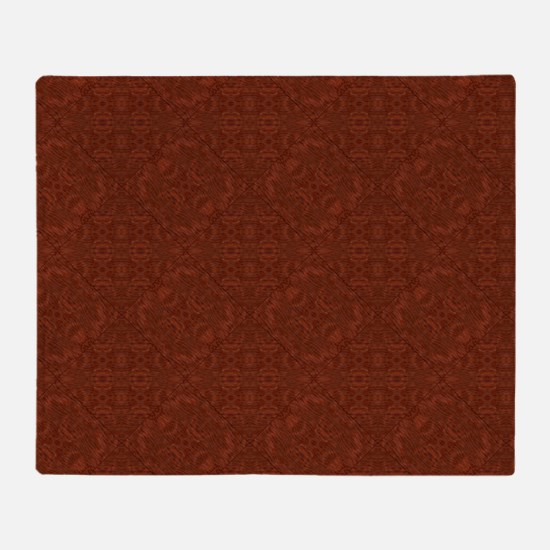 plain rust  Throw Blanket