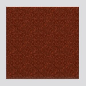 plain rust  Tile Coaster