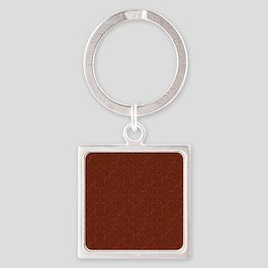 plain rust  Square Keychain