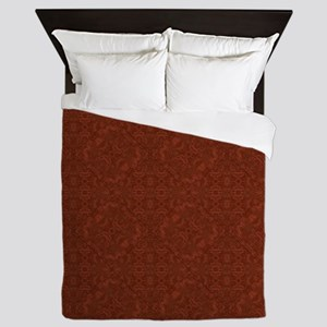 plain rust  Queen Duvet