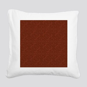 plain rust  Square Canvas Pillow