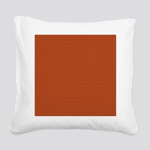 orange pattern Square Canvas Pillow