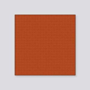"orange pattern Square Sticker 3"" x 3"""