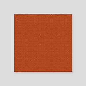 "orange pattern Square Sticker 3"" x 3"""