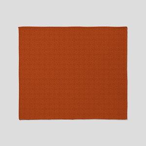 orange pattern Throw Blanket