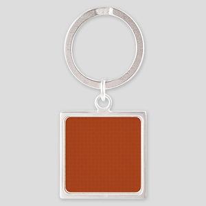 orange pattern Square Keychain