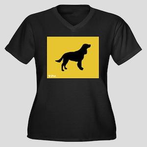 Spaniel iPet Women's Plus Size V-Neck Dark T-Shirt