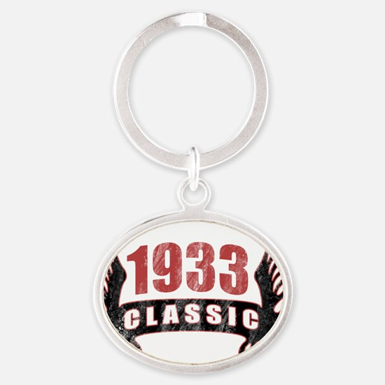 1933 Classic Wings Oval Keychain