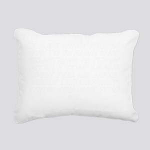 I hate when people try t Rectangular Canvas Pillow
