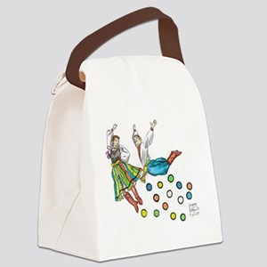 polka dots Canvas Lunch Bag