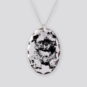 Shih Tzu Puppy  Necklace Oval Charm