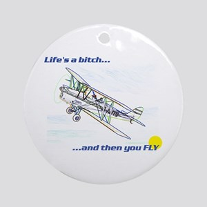 Fly! Tiger Moth. Ornament (Round)