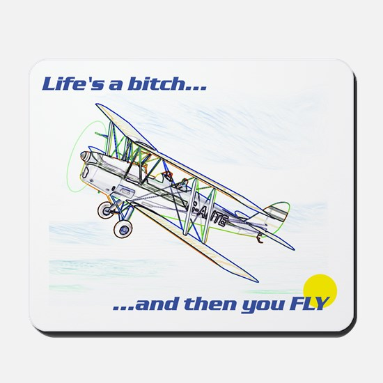 Fly! Tiger Moth. Mousepad