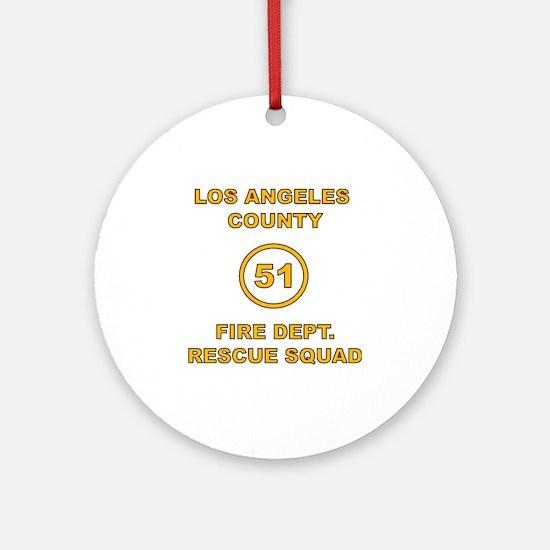 LA County 51 Round Ornament