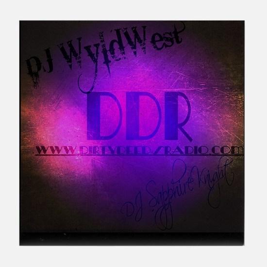 Dirty Deeds Radio Keepsake - DJ WyldW Tile Coaster