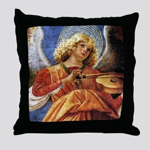 Melozzo Music Making Angel Throw Pillow