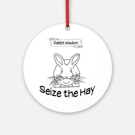 Seize the Hay Round Ornament