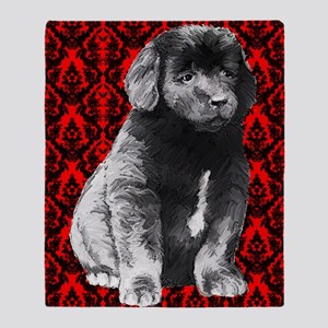 brocaded newfy Throw Blanket