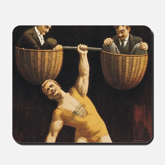 Weightlifting Old School Mousepad